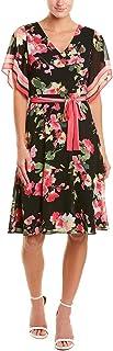Donna Morgan womens CHIFFON FLORAL DRESS Dress