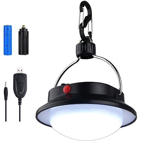 Outdoor Cob Led Lampada Da Campeggio Gancio Lanterna Luce Di Emergenza W //
