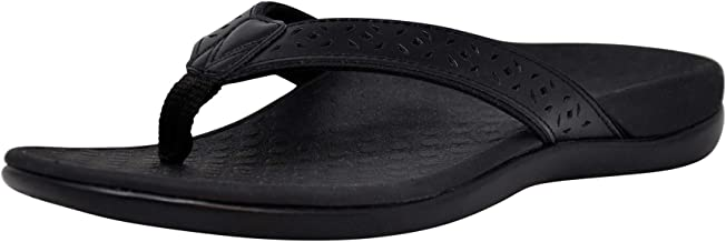 Vionic Women's Tide Perf Toe-Post - Ladies Flip Flops with Concealed Orthotic Arch Support