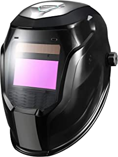 DEKOPRO DX-850E Solar Powered Auto Darkening Welding Helmet, Wide Shade 4/9-13 for TIG MIG ARC Weld Hood Helmet