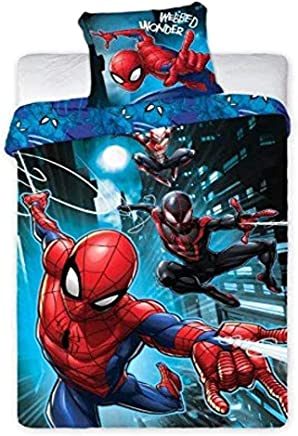 Copripiumino Spiderman Una Piazza E Mezza.Amazon It Spiderman Piumini E Copripiumini Biancheria Da Letto