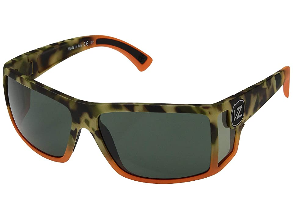 VonZipper Checko (Camo/Orange Satin/Vintage Grey) Sport Sunglasses