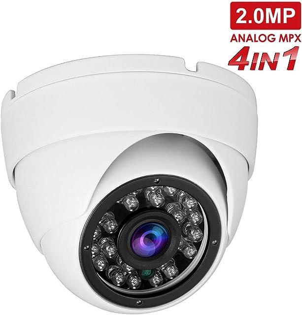 Anpviz cámaras en Domo 1080P HD TVI/CVI/AHD /4 in 1,cámara de CCTVcamaras de vigilancia, IP66 Waterproof Day/Night Vision Security Camera (Modo TVI predeterminado 1080P)