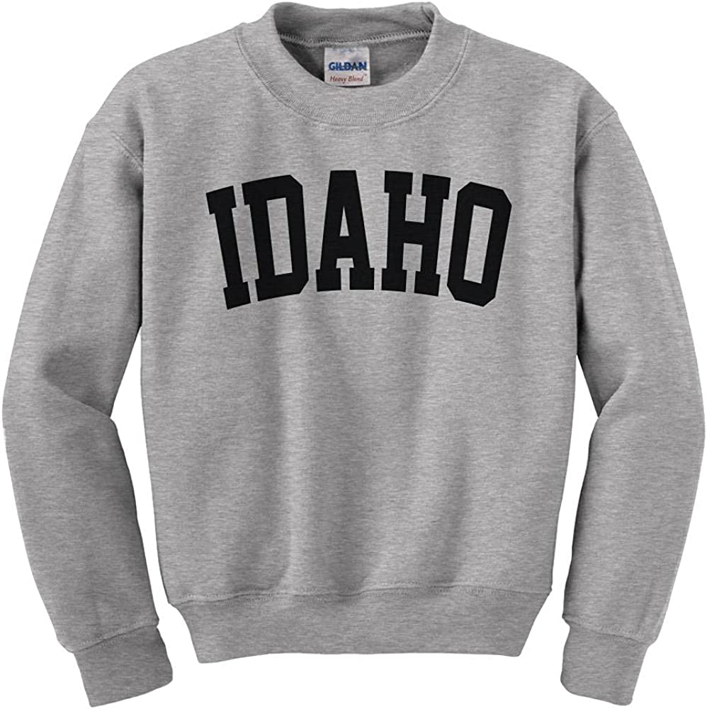 Super beauty product restock quality Max 67% OFF top Idaho College Style Youth Sweatshirt Kids
