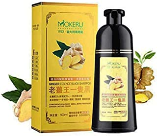 Natural Ginger Black Hair Dye Shampoo Fast Cover Gray White In 5 Minutes With LISITA Lip Mask