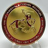フリーメイソン 十字軍 テンプル騎士団 コイン 新デザイン (ゴールドレッド)