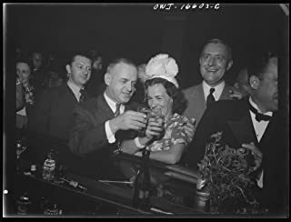 Historic Photos Detroit, Michigan. A Venetian Night Party at The Detroit Yacht Club, Whose Members Represent The wealthier Class of Manufacturers and Their Friends. Couple Drinking at The bar