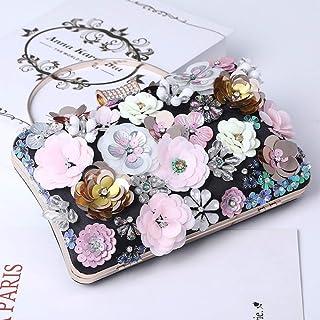 Handgemachte Blumen-Abendtasche Frauen Mode Luxus Party Handtaschen Hochzeitstasche Blumenbeutel Geldbörsen und Handtasche...