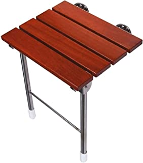 TUHFG Shower Stool Bath Seats Shower Stool Shower Chair Teak Bathroom Elderly Shower Stool Folding Seat Wall Bench,Bearing...