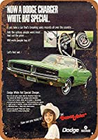 Shimaier 壁の装飾 メタルサイン ウォールアート - 1969 Dodge Charger White Hat Special 2 縦20×横30cm ブリキ看板 店舗装飾 壁面ディスプレー おしゃれ 雑貨 通販 アメリカン ガレージ