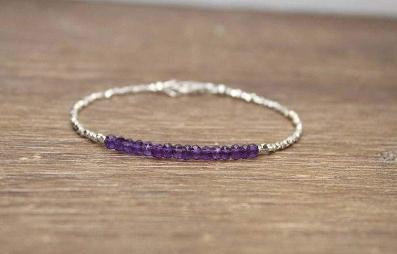 Shree Narayani Amethyst Bracelet Hill Ranking online shopping TOP4 Silver Beads Ameth Tribe