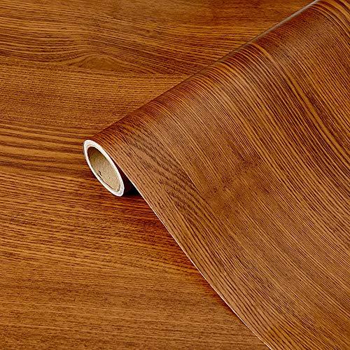 DMAXUN Espesar Impermeable Grano de madera Papel pintado 40x300cm Papel de vinilo autoadhesivo para Sala Habitación Paredes Encimera Bricolaje Mueble