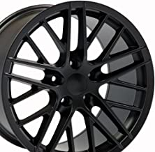OE Wheels 18 Inch Fits Chevy Corvette Camaro Pontiac TransAm C6 ZR1 Style C6 ZR1 Style CV08A 18x10.5/17x9.5 Rims Satin Black SET