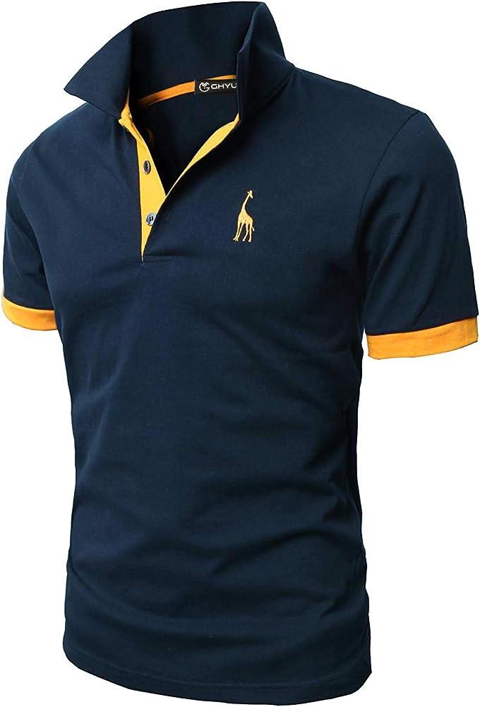 Ghyugr polo maglietta da uomo a maniche corte 100% cotone shenkaclothing0310