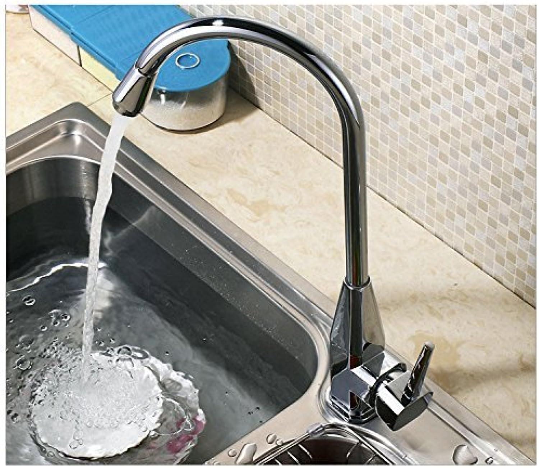 Hochwertige Legierung Küche Mischbatterie warme Küche Kalte Küche mit Chrom Mischbatterie Wasserhahn Tippen