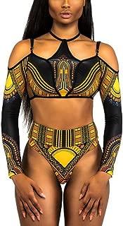 NJunicorn Uncle Women One Piece Swimsuit African Print Monokini Bikini Beach Swimwear Bathing Suit for Women Plus Size