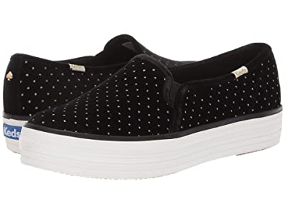 Keds x kate spade new york Triple Decker Glitter (Black Velvet) Women