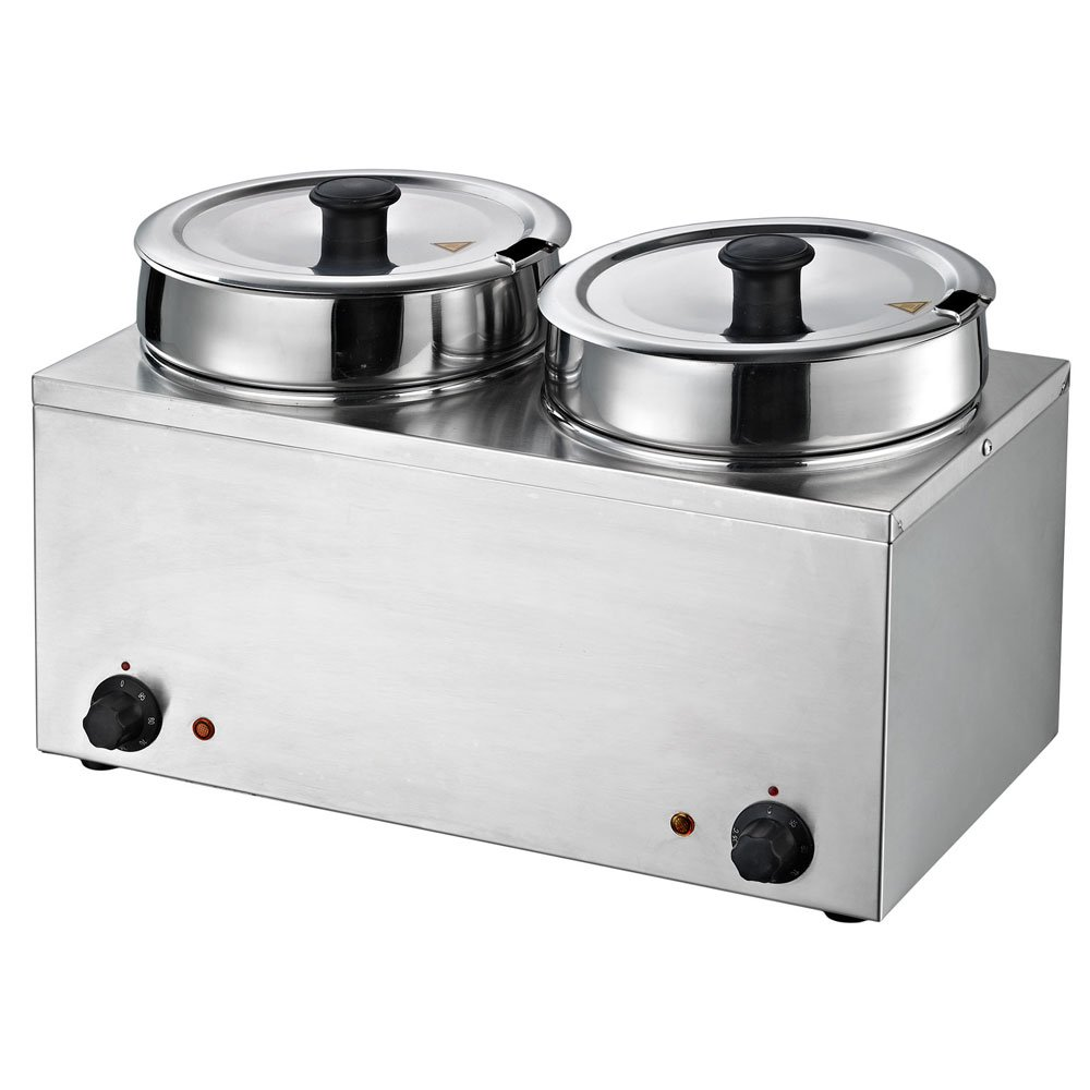 Chef's Supreme Direct store - Dual Dallas Mall 3.7 qt. w Food Round Warmer Stainless Well