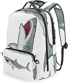 Mochila con bolsa de cruz desmontable Set Great White Shark Computadora Mochilas Bolsa de libro para viajes Senderismo Camping Daypack