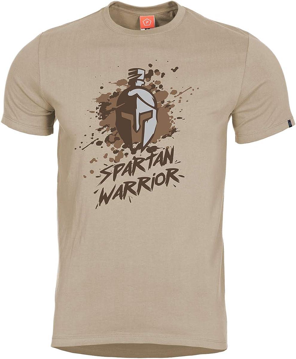 Pentagon Men's Ageron Spartan T-Shirt Genuine Max 74% OFF Warrior Khaki