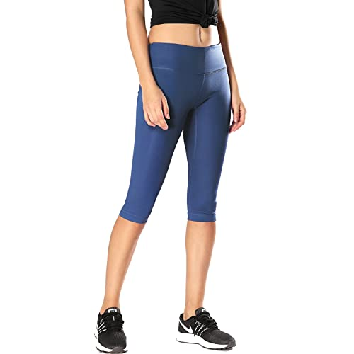952c6c1cdd827 CRZ YOGA Women's Running Tights Workout Capris Cropped Yoga Pants with  Pockets