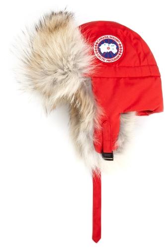 Big Sale Canada Goose Men's Aviator Hat,Red,Large-X-Large