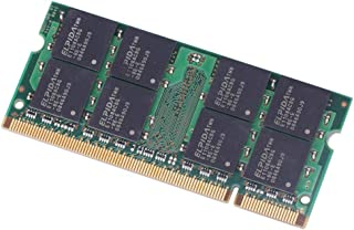 Febelle 1pcs Memoria RAM para Portátil (Compatible con Elpida 2GB DDR2 PC2-6400S, 800 MHz, 200 Pines, SO-DIMM, PC6400)