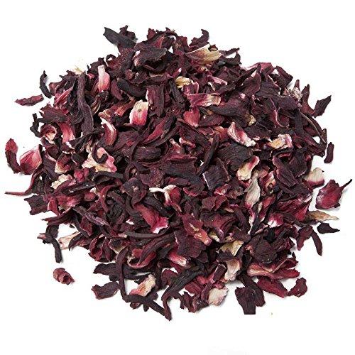 Aromas de Te - Infusion de Hibisco con Alto Poder Digestivo y Antitusivo/Infusion Hibiscus de Jaimaica para el Cuidado de la Piel, 50 gr