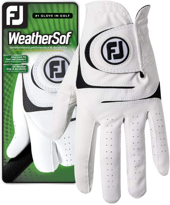 FootJoy Men's San Jose Mall WeatherSof New Orleans Mall Golf Glove on X-Large Right White Worn