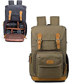 DSLR Camera Backpack for Men and Women, Professional Camera Bag Waterproof Anti Shock for Canon Nikon Sony,Gray