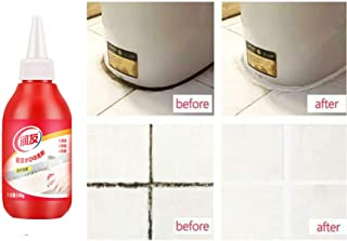 Anti-Odor Caulk Remover Gel,Miracle Deep Stain Remover Cleaner Wall Cleaner for Tiles Grout Sealant Bath Sinks Showers Crack Repair Gel (1, Red)