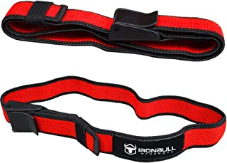 Iron Bull Strength Blood Flow Restriction Bands (Pair) - Occlusion Training Straps – BFR Workout Wraps – Restriction Cuffs for Increased Growth Factors