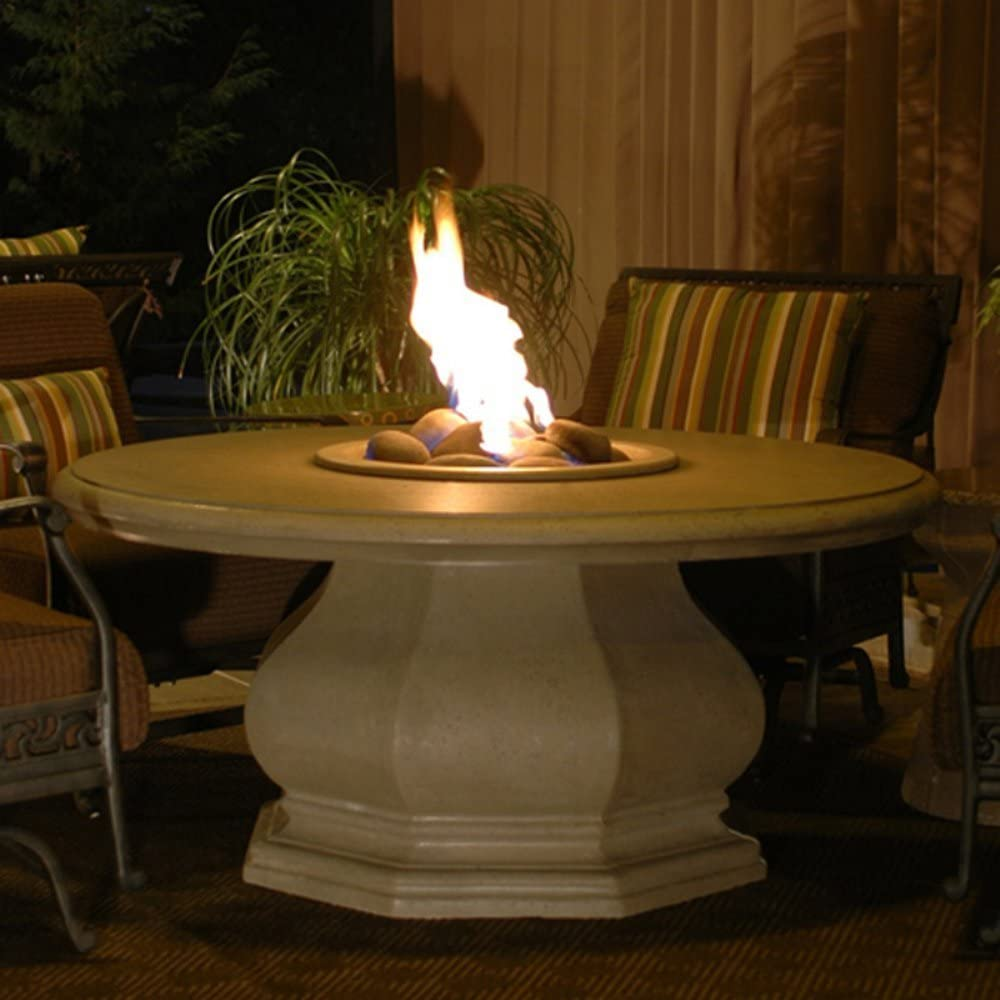 American Fyre Chat-Height Octagon Fire Table favorite Pit Cafe Regular store Blanco -