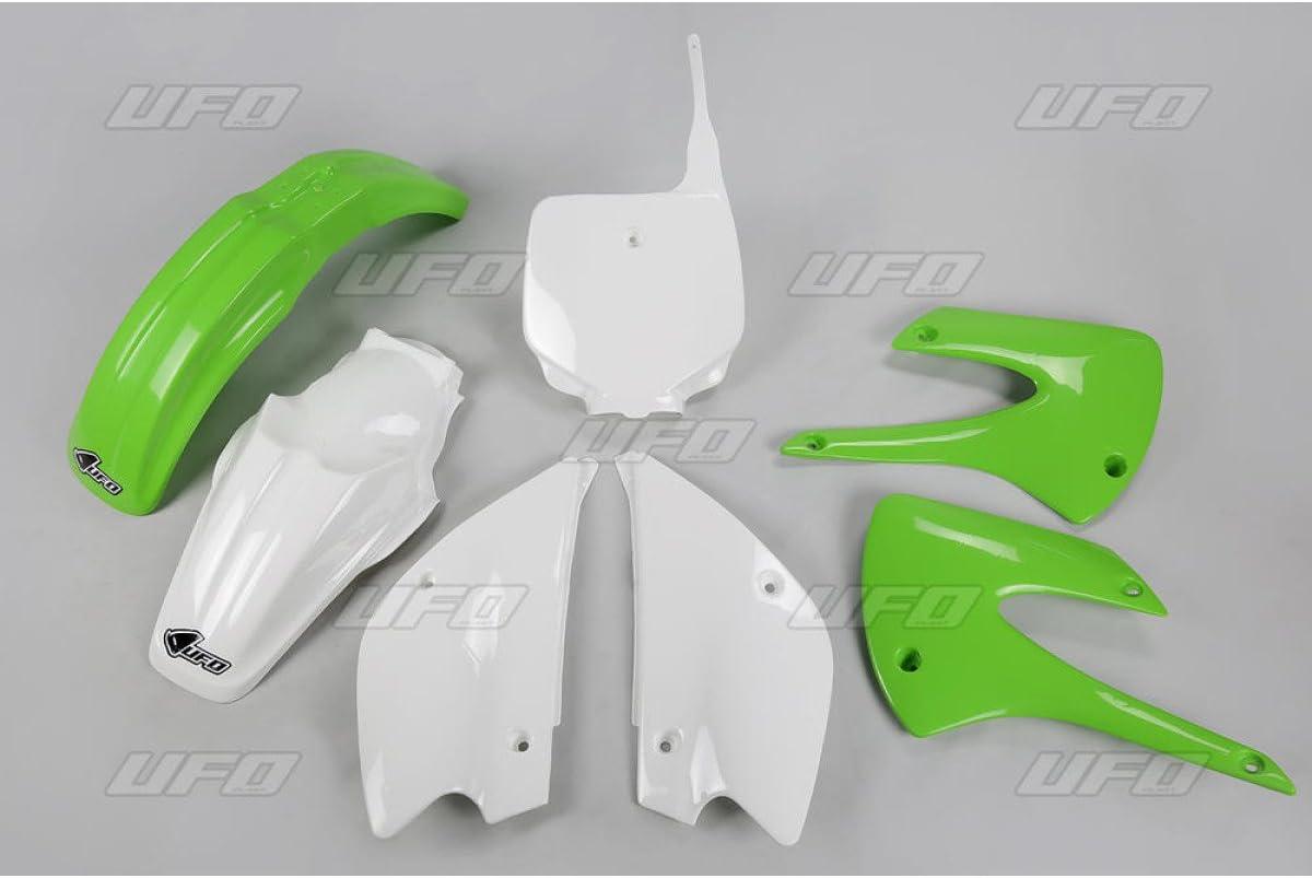 UFO plástico Juego Kit Verde Blanco Kawasaki KX 852013OEM Rest yled Completo Body Kit Herramientas Set