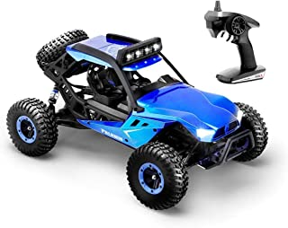 Hosim High Speed RC Off-Road Buggy 50km/h 4x4 Wheel Drive 1:12 Scale Electric Car with LED Light Vision, 2.4Ghz Full Function Remote Controlled - Blue