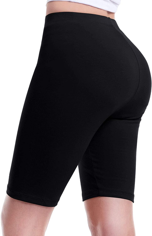 Design by Olivia Women's Basic Solid Cotton Active Yoga Biker Shorts