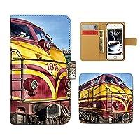 Galaxy A51 5G SC-54A ケース 手帳型 Train 手帳ケース スマホケース カバー 鉄道 列車 電車 機関車 駅 線路 E0277040113902