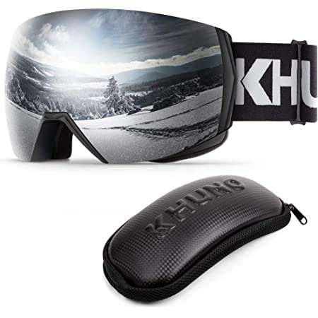 Designed and Developed in United States Ski /& Snowboard Goggles with Premium Toric Mag-Lens System /& OTG Design KHUNO Jaeger Ski Goggles