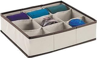 mDesign Soft Fabric Dresser Drawer and Closet Storage Organizer Bin for Lingerie, Bras, Socks, Nylons, Ties, Belts, Tank T...
