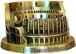 PROW® Metal Roma Modelo del Coliseo Bronce Retro Arquitectura Antigua Hecho a Mano Arte Casa Escritorio Decoración Coleccionable Artificial Mundo Famoso Edificios Escultura