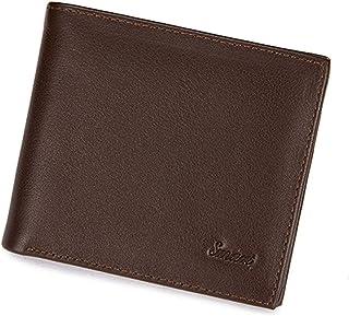 High end Men's Leather Wallet, Blocking Bifold Wallet, Minimalist Slim Wallet Card Holder Money Clip, Men's Fashion Waterp...