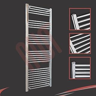 600 mm (w) x 1600 mm (h) - Piso Radiador toallero cromado horizontal Diámetro: 22 mm, Bar Modelo: 4 + 4 + 5 + 6 +10