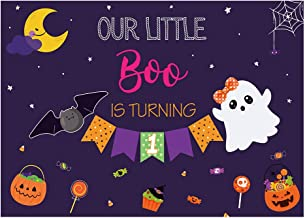 Funnytree Halloween 1st Birthday Party Backdrop Our Little Boo is Turning One Background for Baby Boys Girls First Birthda...