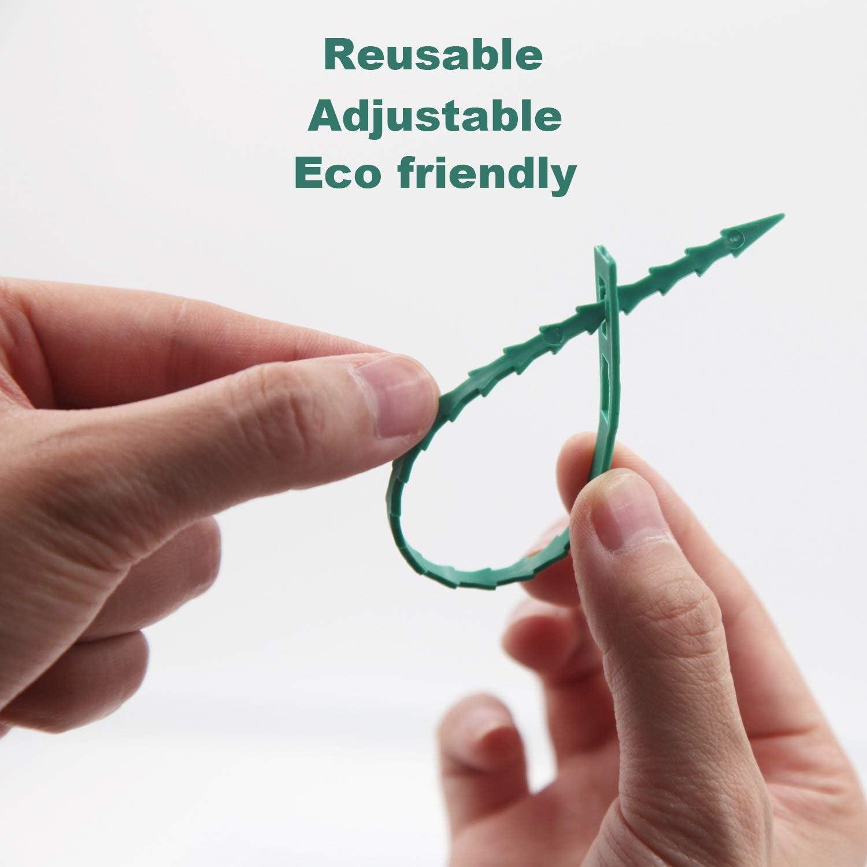 Lot de 200 attaches de jardin polyvalentes en plastique pour attacher des plantes et des vignes 12,5 cm