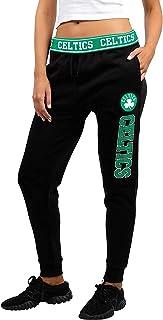 UNK NBA Women's Jogger Pants Active Basic Fleece Sweatpants, Black/Navy