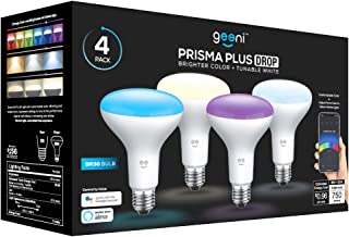 Geeni P BR30 LED Smart Light Bulb, Tunable and Dimmable RGB WiFi Bulb, No Hub Required, Compatible with Alexa and Google A...