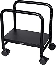 EUREKA ERGONOMIC Computer Cart Height-Adjustable Mobile CPU Stand Suitable for Sit Stand Desk Converters Black