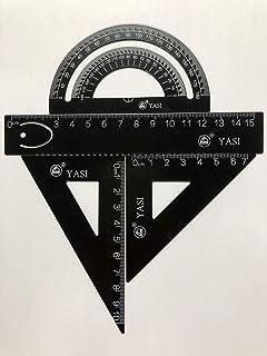Matematica Geometria Set 8 pezzi Bussole Righello Triangolo Righello Goniometro Set per Studente KIT ESAME Compiti a Casa Disegno Set
