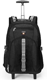 KTYXDE Travel Bag Backpack Business Large Capacity Bag Trolley Bag Computer Bag Youth School Backpack Luggage Travel Bag Trolley Backpack (Color : Black, Size : 48x20x34cm)