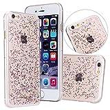 Venusau Glitter PC Phone Case for iPhone 6/6s (Rose Pink)